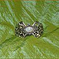 Bracelet Elfique Mariage Medieval Fantasy <b>Labradorite</b> Moonstone Elven Wedding Cuff
