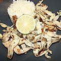 Cuisses de <b>grenouilles</b> marinées au rhum et citron vert à la plancha