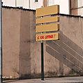 [<b>projet</b> <b>52</b>-2021] Panneau indicateur. Street Art. Nancy #14.