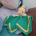 Doudou fée clochette-fairy security blanket crochet