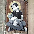 Street art Belleville, Ender pochoir, rue des cascades