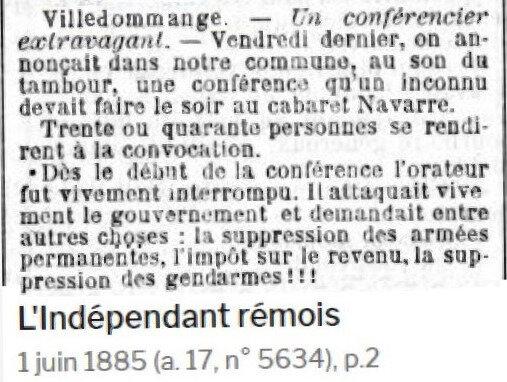 1885 CONFERENCIER