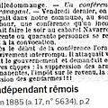 1885 vendredi 29 mai: campagne pour les élections législatives