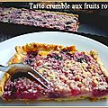Tarte fruits rouges crumble et mascarpone