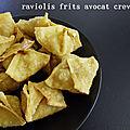 Raviolis frits avocat crevette