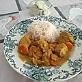 Marmite de porc au vinaigre à la sri-lankaise ou porc moju et raïta de concombre