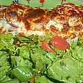 Tartine jambon, tomates et mozzarella