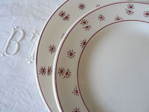 Assiette plate Andrée 23 cm et à dessert 21 cm