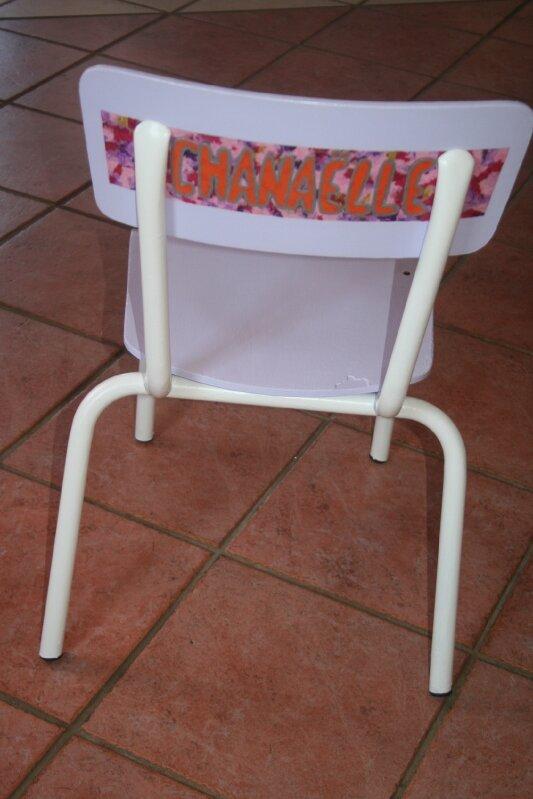 chaise personnalisée