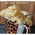 Mug cake jambon fromage