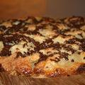 Gâteau aux poires et copeaux de chocolat