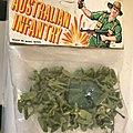 00386 SOLDATS INFANTERIE <b>AUSTRALIENNE</b> MARQUE INCONNUE COPIE AIRFIX