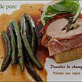 Filet de porc farci à la duxelles de champignons sur polenta aux champignons séchés, sans gluten et sans lactose