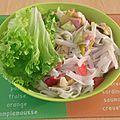 Salade composee aux saveurs asiatiques