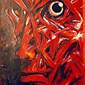 autoportrait175x120 - acrylique sur papier - 1993