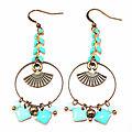 boucles d'oreilles hënnë bijoux épi éventails turquoise mint sequins1