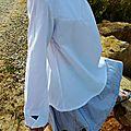 Une petite blouse blanche toute simple