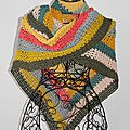 Color block shawl