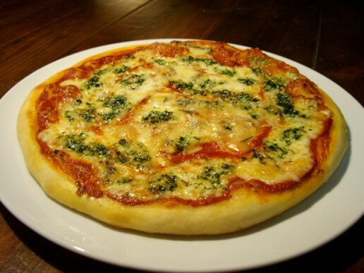 Pizza au gorgonzola ail et persil...