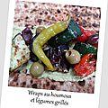 Wraps au houmous et légumes grillés