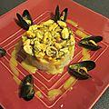 Curry de moules, pommes de terre