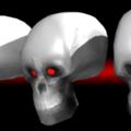le crâne texturé et low poly !