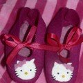 chaussons hello kitty