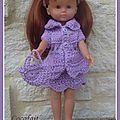 Clara tenue lilas