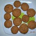 Muffins chocolat au lait / cacahuètes