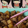Emincé de porc aigre doux aux petits légumes