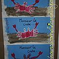 Crabes des petits J, K , G