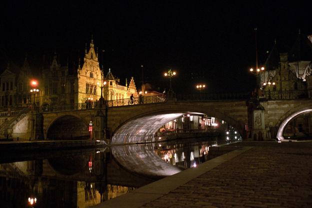 Gand, pont Saint-Michel, août 2007