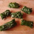 Feuilles de bettes farcies et sauce vitaminée