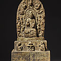 A large limestone <b>Buddhist</b> stele, Eastern Wei Dynasty or later