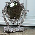 Miroir ange patiné