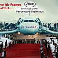 AIR FRANCE menace Le 71e Festival international du Film de Cannes 2018