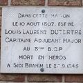 Plaque à la mémoire du Capitaine Dutertre