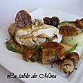 Suprêmes de chapons jaunes au foie gras et aux cèpes