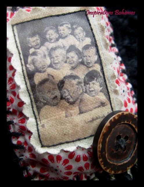 boho broche with adorable childs detail IB