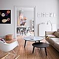 Intérieur ❤ scandinave, vintage & petites touches colorées