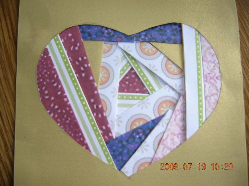 iris folding n° 1 (30 ANS DE SEBASTIEN)