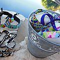 Les bracelets manchettes perles de rocaille