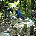 Restauration de différents édifices réalisée par les membres de l'association