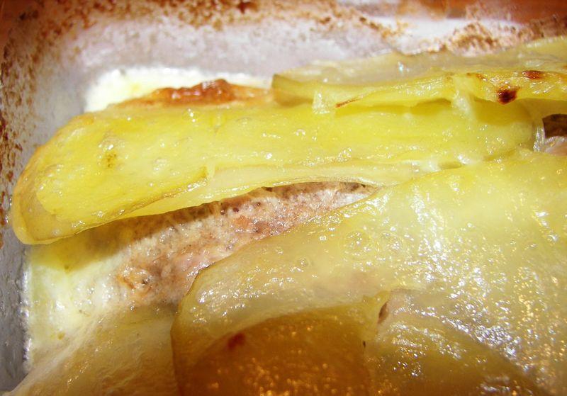 Gratin de pommes de terre et rillettes