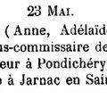 Rathier Duvergé Anne Adelaïde_Naissance 23.5.1774_Pondichery