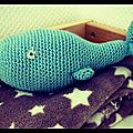 Petite baleine au crochet :)