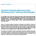 Info circulation : traversée de la seine à vsg