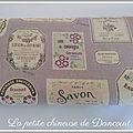 Les Tissus <b>étiquette</b> vintage de la petite chineuse de Dancourt