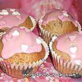 Mignons cupcakes à la fraise