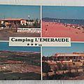 Portiragnes plage - camping l'émeraude datée 1986